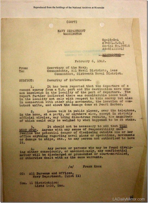 Feb. 6, 1942, Lookse Talk