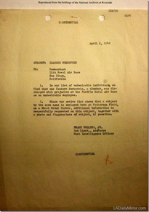 April 1, 1942, Bernstein