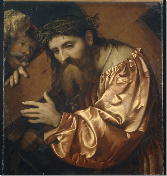 Christ Carrying the Cross Dragged by a Rogue