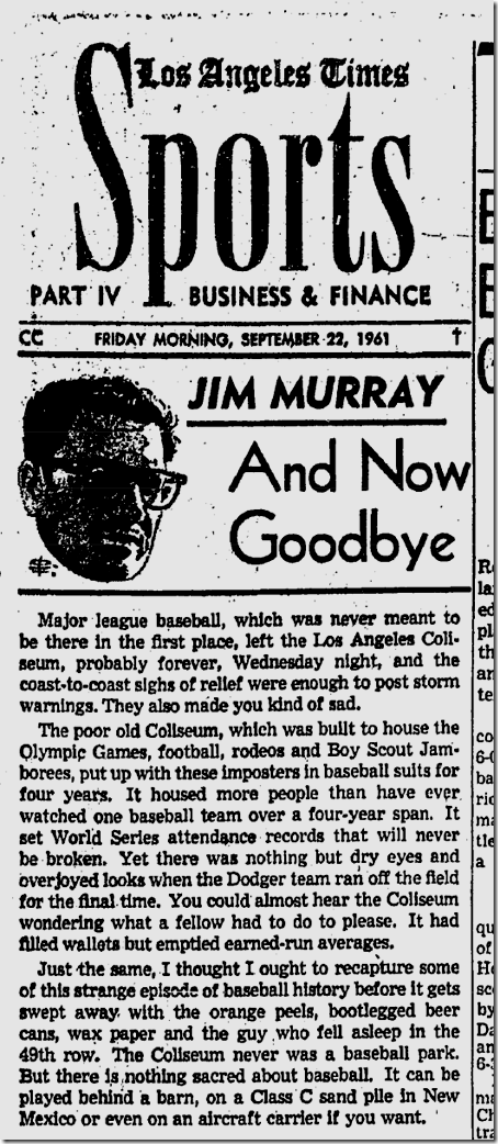Sept. 22, 1961, Coliseum