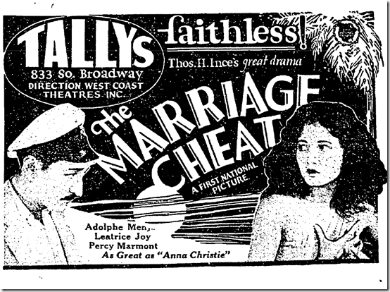 May 25, 1924, Marriage Cheat