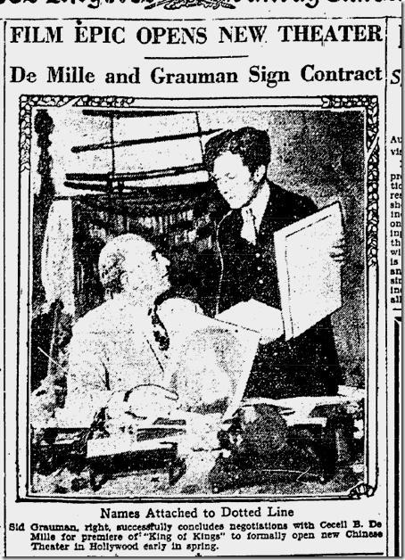 Feb. 13, 1927, DeMille and Grauman