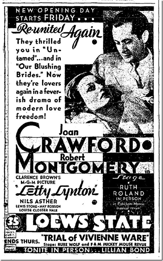 May 18, 1932, Letty Lyndon