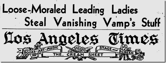 May 22, 1932, Loose Morals!