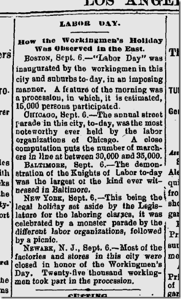 Sept. 7, 1886, Labor Day