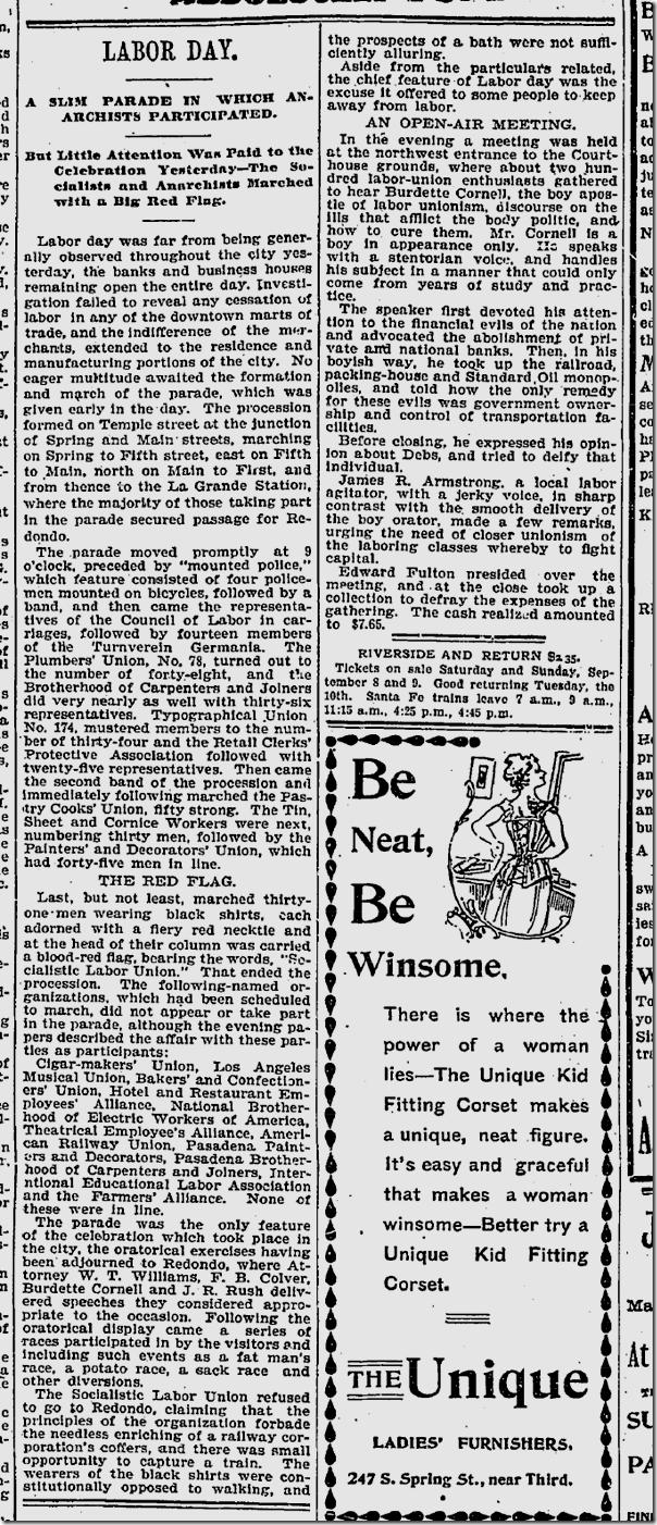 Sept. 3, 1895, Labor Day
