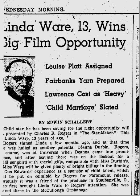 Feb. 22, 1939, Linda Ware