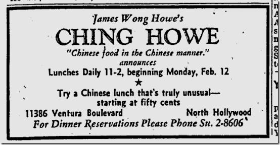Feb. 10, 1940, Ching Howe