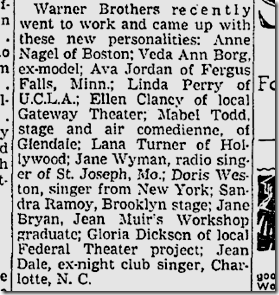 Aug. 1, 1937, New Faces
