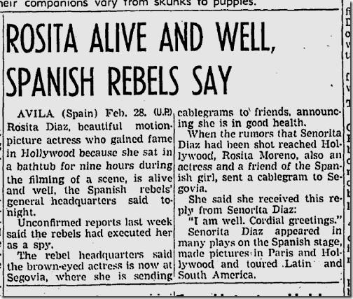 March 1, 1937, Rosita Diaz