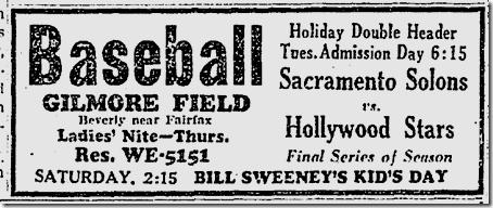 Sept. 9, 1941, Baseball