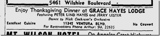 Nov. 22, 1939, Grace Hayes Lodge