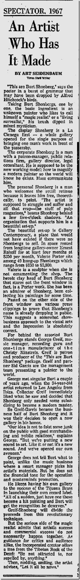 April 18, 1967, Burt Shonberg