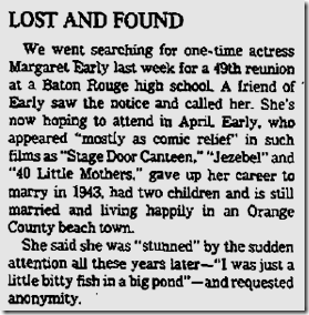 Feb. 23, 1986, Margaret Early