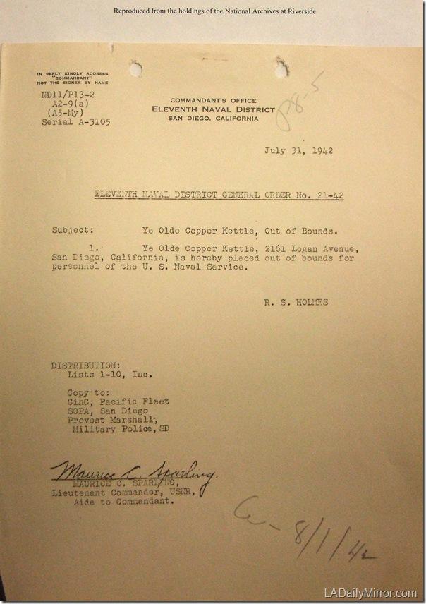July 31, 1941, Copper Kettle