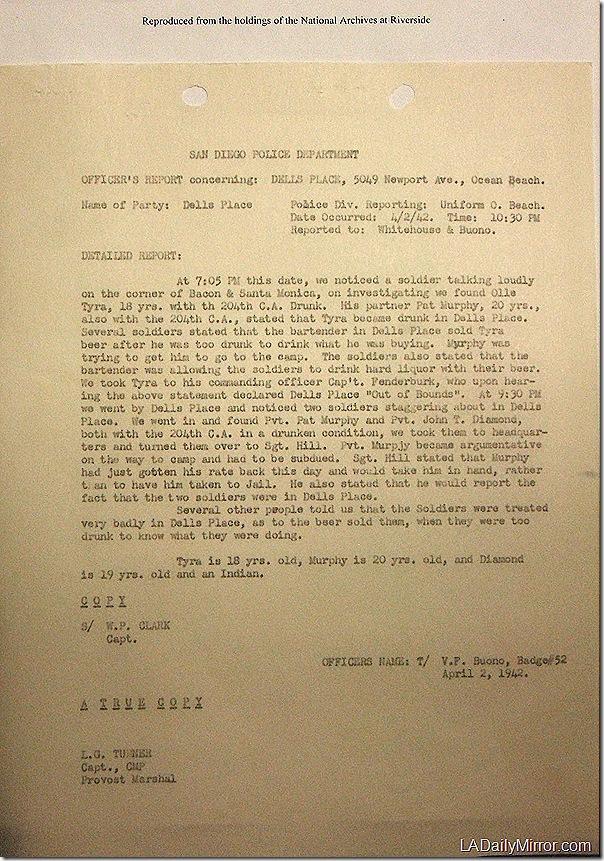 April 2, 1942, Dell's Place