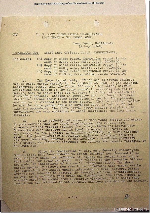 May 12, 1942, Report
