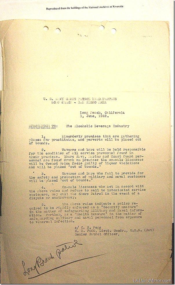 June 1, 1942, Report