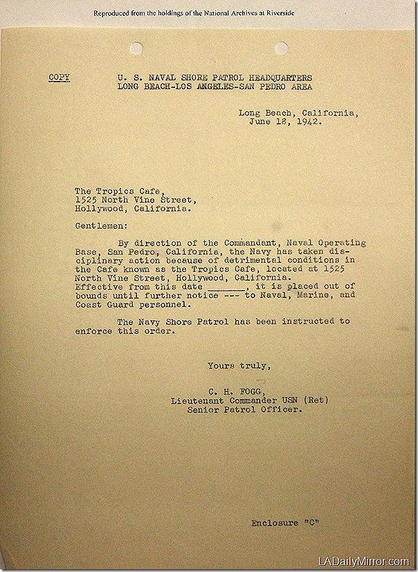 June 18, 1942, Tropics
