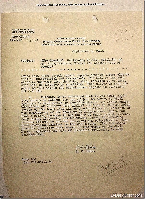 Sept. 7, 1942, Tropics