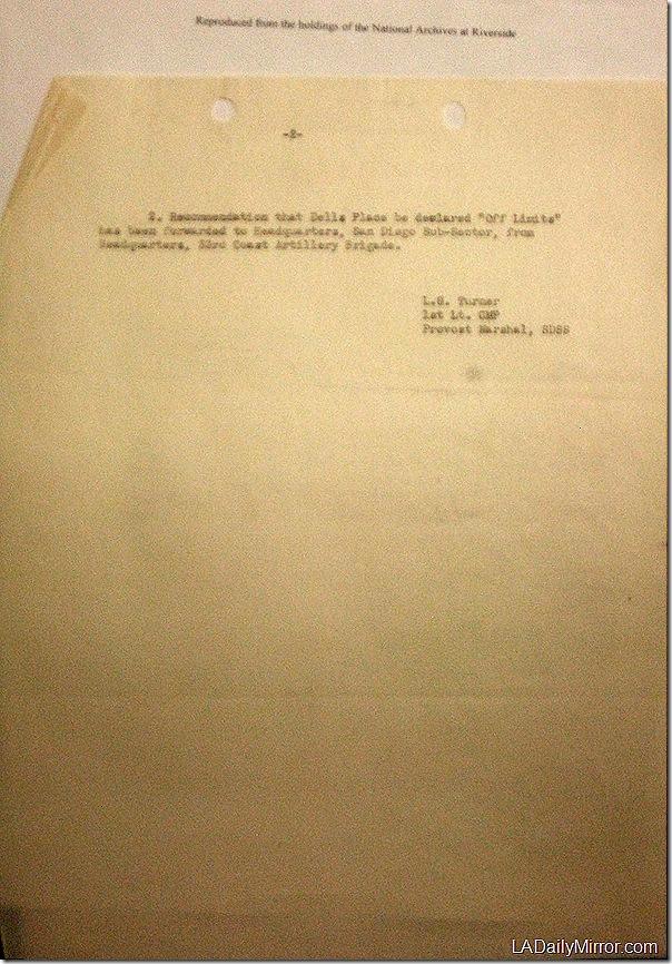 April 8, 1942, Dell's Place.