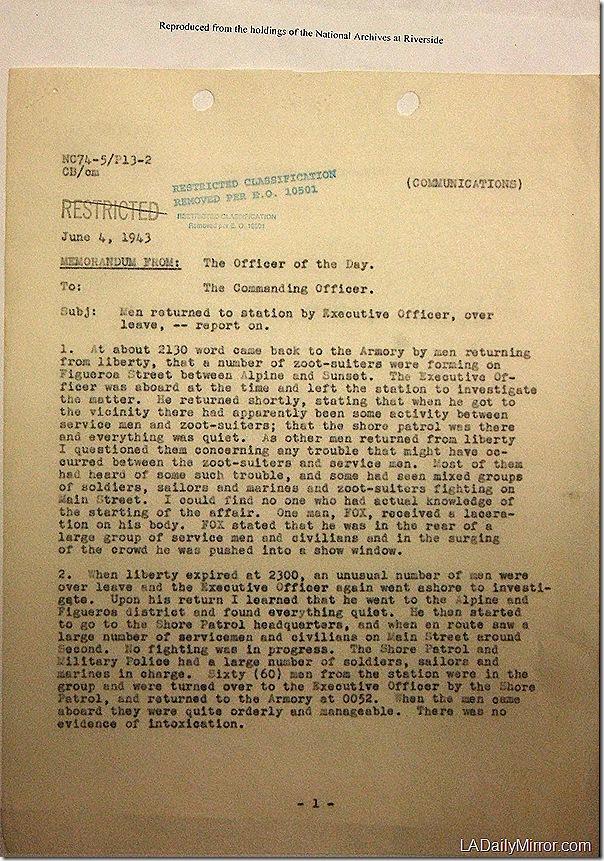 June 4, 1943, Zoot Suit Riots