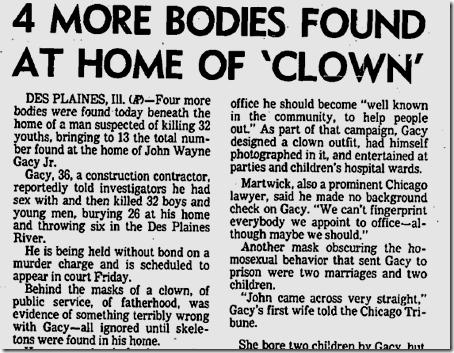 Dec. 27, 1978, John Wayne Gacy