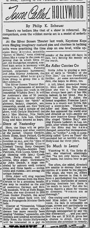 Sept. 7, 1941, Silver Screen Revue