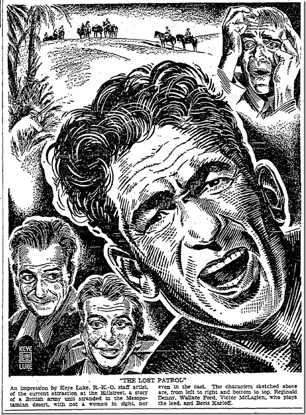 Feb. 18, 1934, Keye Luke Drawing