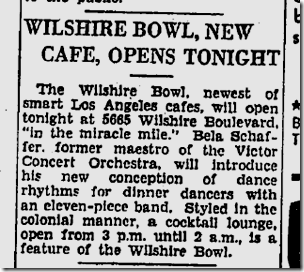 April 26, 1935, Wilshire Bowl