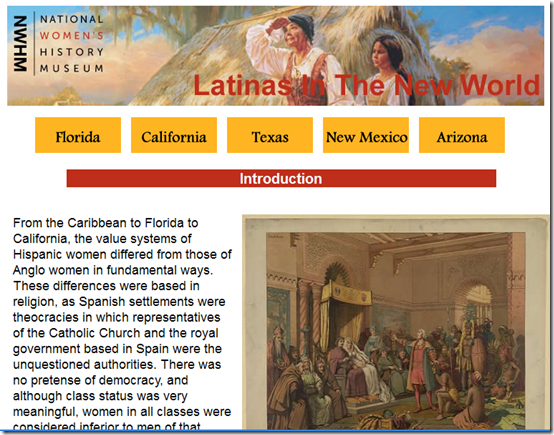 Latinas in the New World