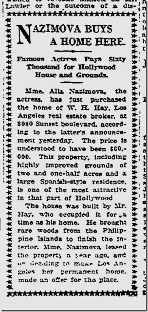Aug. 7, 1919, Nazimova