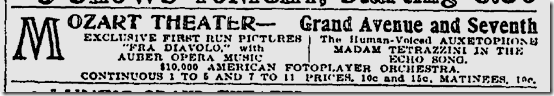 Sept. 21, 1912, Fotoplayer Orchestra