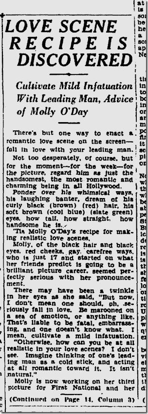 Oct. 16, 1927, Molly O'Day