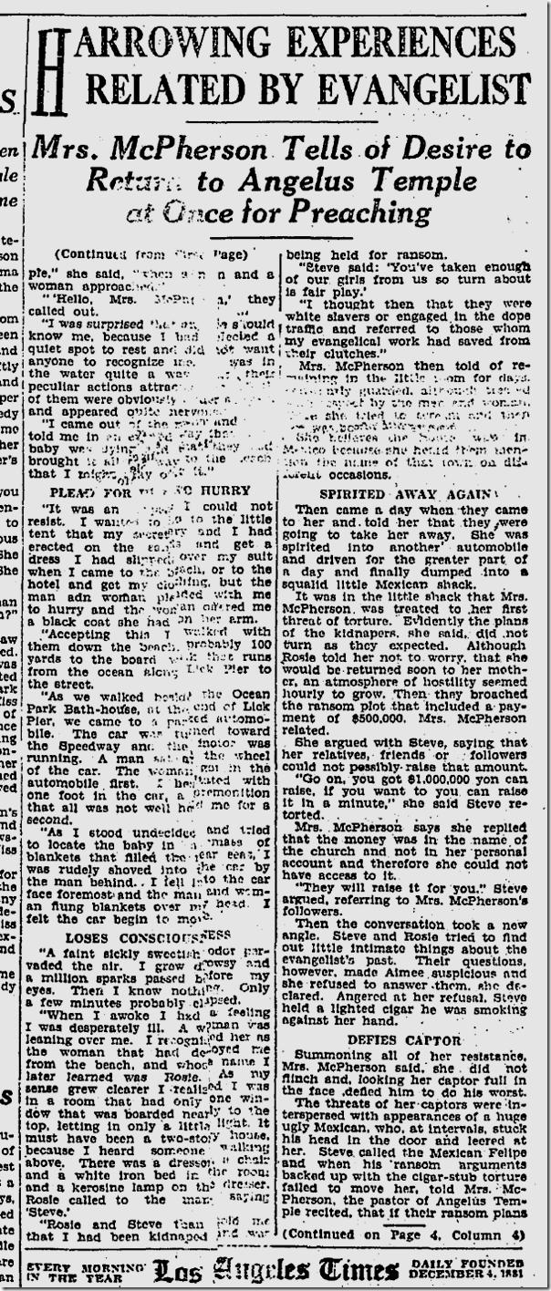 June 24, 1924, Aimee Semple McPherson