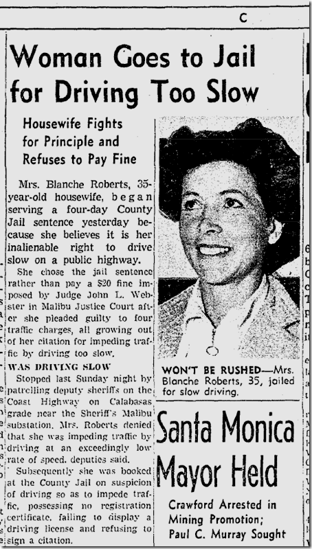 Oct. 7, 1941, Woman Driver