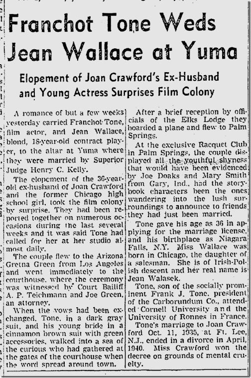 Oct. 19, 1941, Franchot Tone