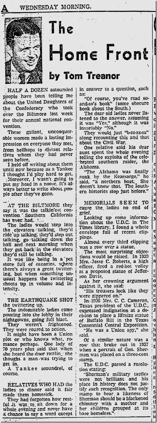 Nov. 19, 1941, Tom Treanor