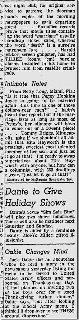 Nov. 19, 1941, Jimmie Fidler