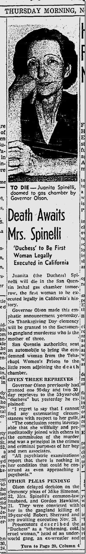 Nov. 20, 1941, Juanita Spinelli