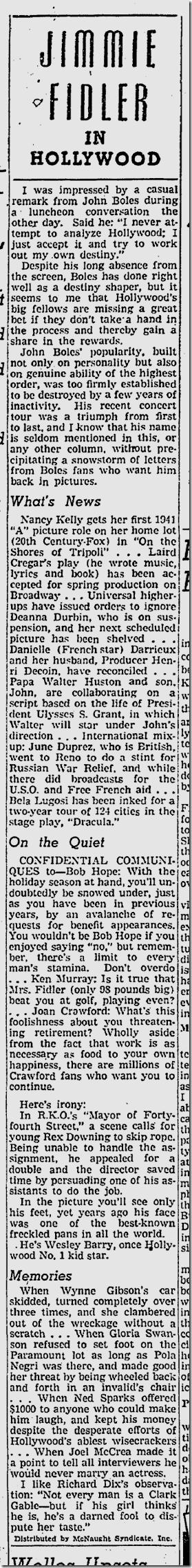No. 21, 1941, Jimmie Fidler