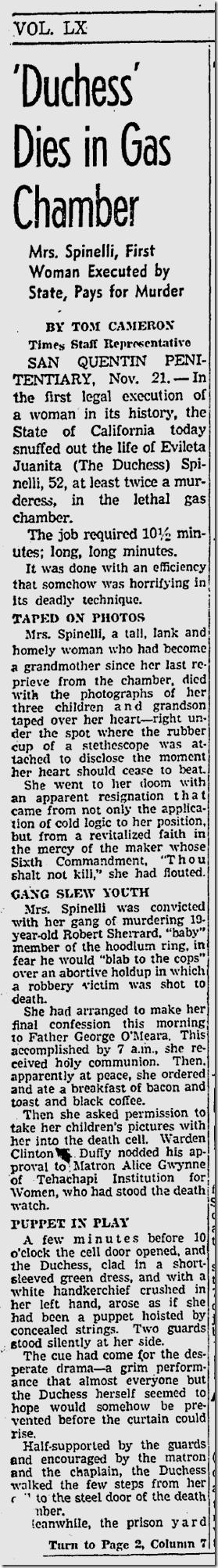 Nov. 22, 1941, Spinelli Execution