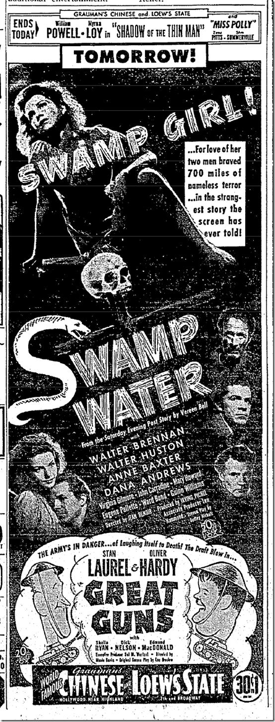 Nov. 26, 1941, Swamp Water