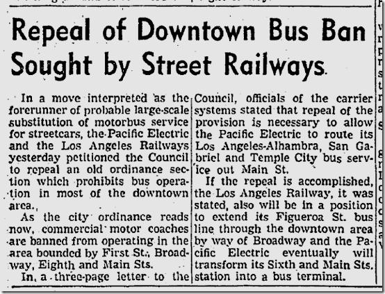 Nov. 27, 1941, Bus Ban