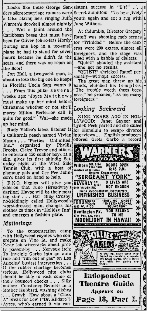 Nov. 27, 1941, Jimmie Fidler