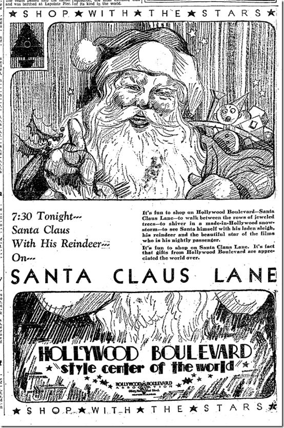 Dec. 4, 1929, Santa Claus Lane