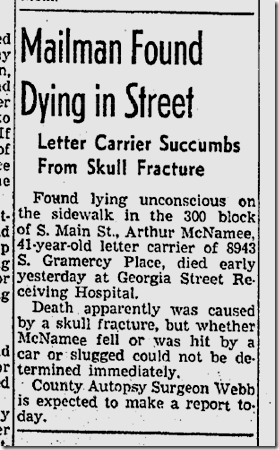 Nov. 29, 1941, Man Dies on Main Street