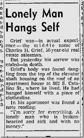 Nov. 7, 1941, Suicide