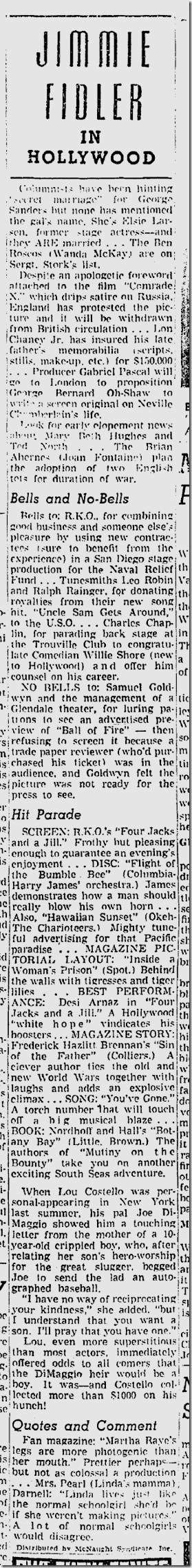 Nov. 7, 1941, Jimmie Fidler
