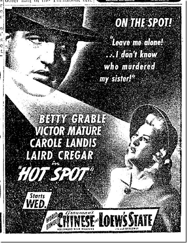 Nov. 9, 1941, Hot Spot